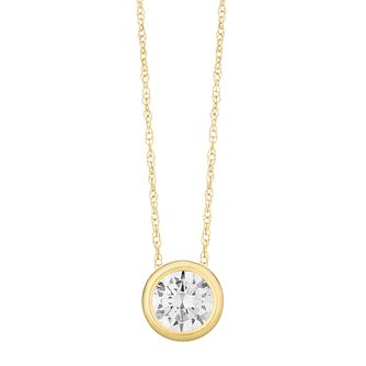 9ct Yellow Gold Cubic Zirconia Round Pendant - Product number 3130312