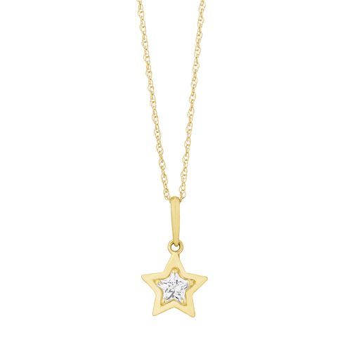 9ct Yellow Gold Cubic Zirconia Star Pendant - Product number 3130363