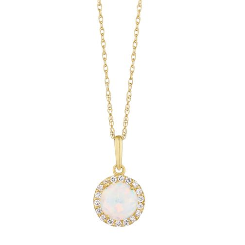 9ct Yellow Gold White Cubic Zirconia Halo Pendant - Product number 3130665
