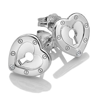 056ec0b145d7 Hot Diamonds Lock In Love Ladies  Stud Earrings - Product number 3131041