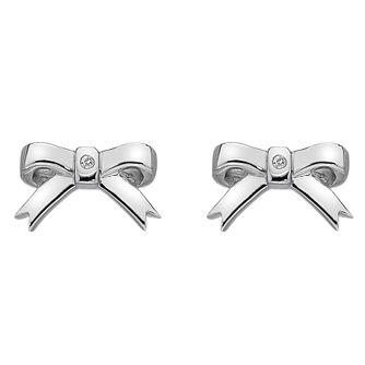 Hot Diamonds Ladies' Silver Ribbon Earrings - Product number 3131106