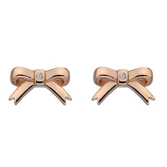 d38a0198b0fb Hot Diamonds Rose Gold Plated Ribbon Earrings - Product number 3131114