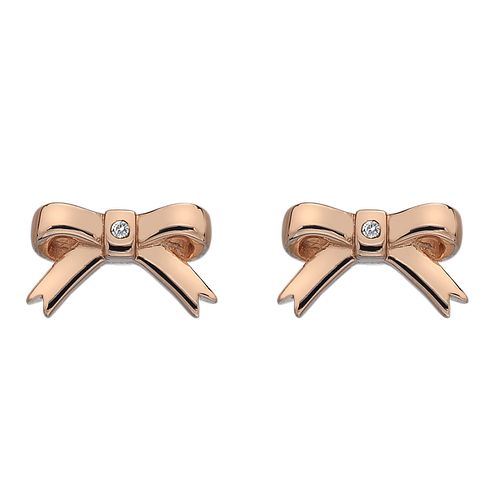 Hot Diamonds Rose Gold Plated Ribbon Earrings - Product number 3131114