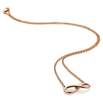 Hot Diamonds Ladies' Rose Gold Plated Infinity Pendant - Product number 3131130