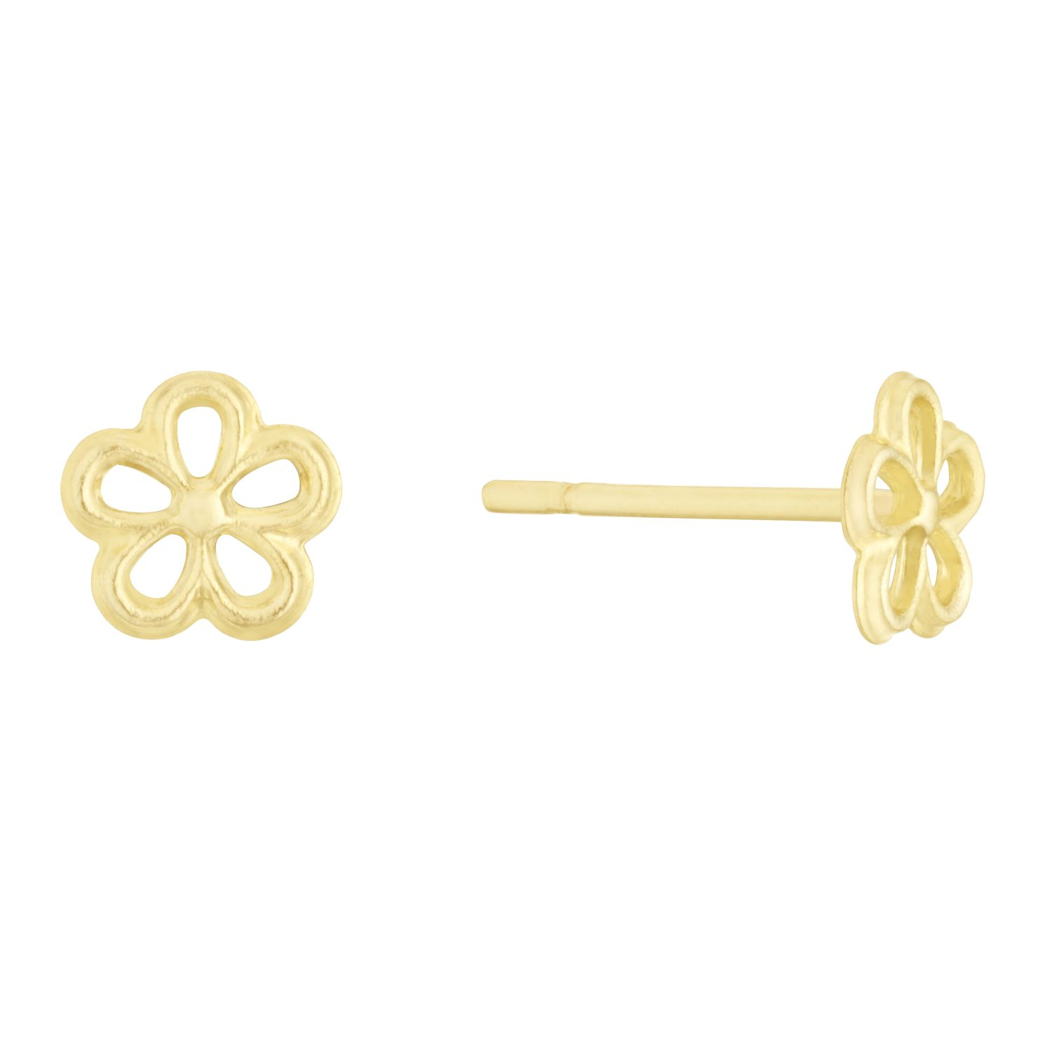 Kids' 9ct Yellow Gold 5 Petal Daisy Stud Earrings - Product number 3131297