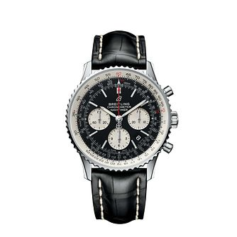 Breitling Navitimer 01 Men's Black Leather Strap Watch - Product number 3132706
