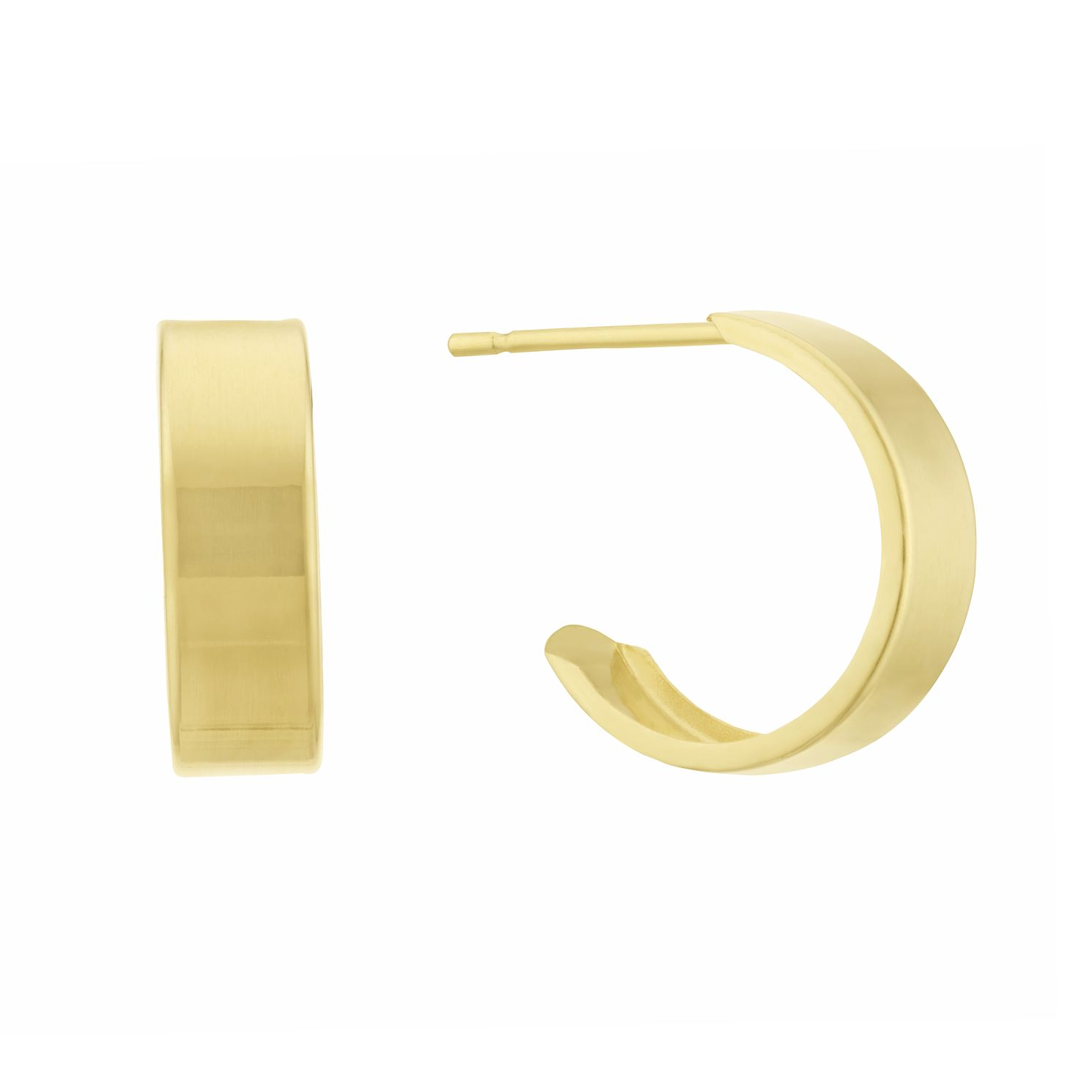 9ct Yellow Gold Plain Hoop Earrings - Product number 3132846