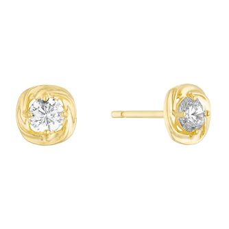 9ct Yellow Gold Cubic Zirconia Round Stud Earrings - Product number 3133079