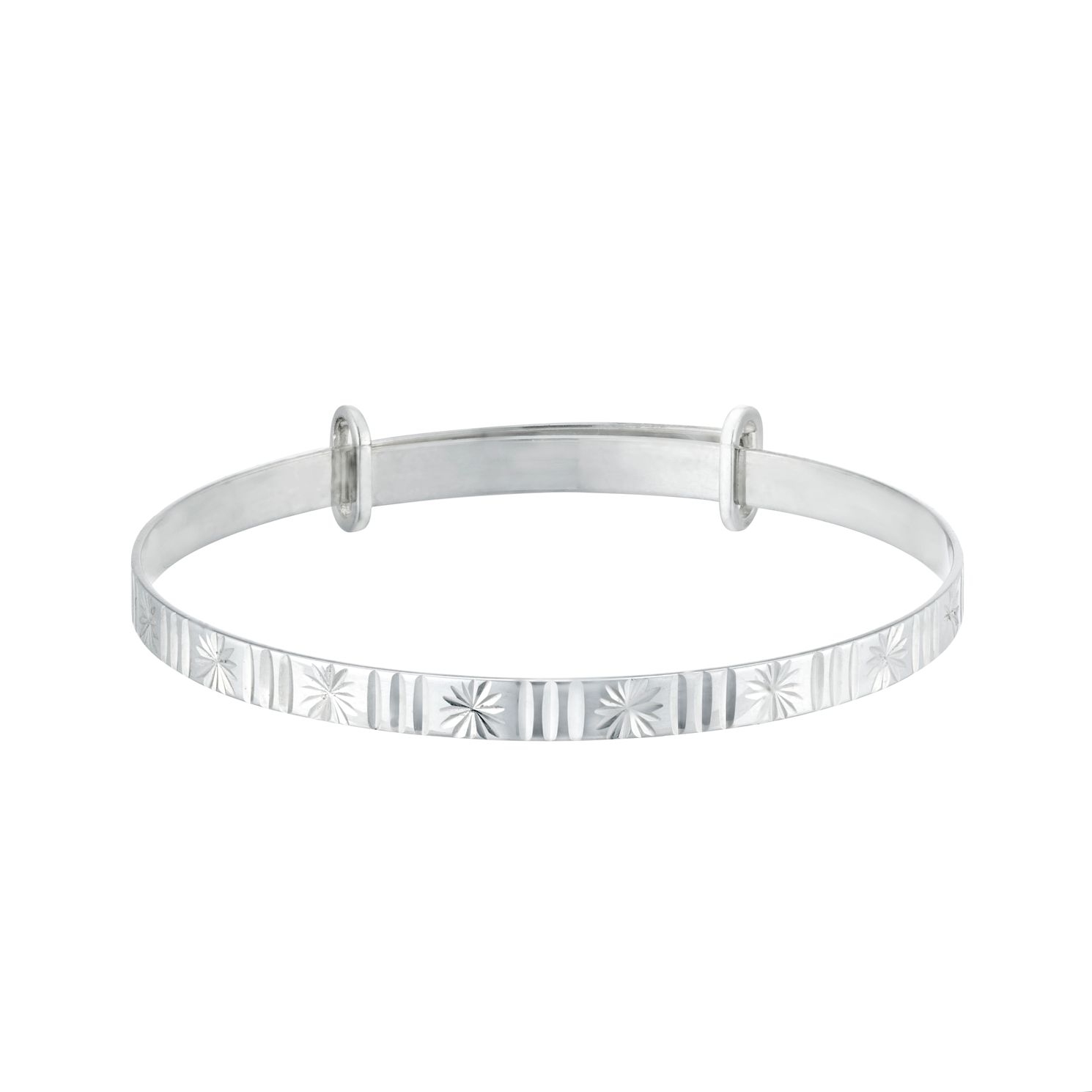 Kids' Silver Starburst Expandable Bangle - Product number 3133788