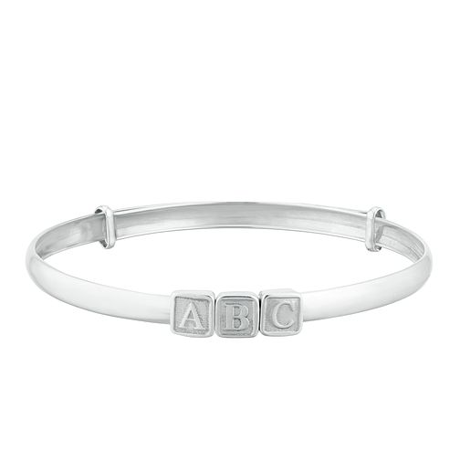 Kids' Silver ABC Expandable Bangle - Product number 3133842