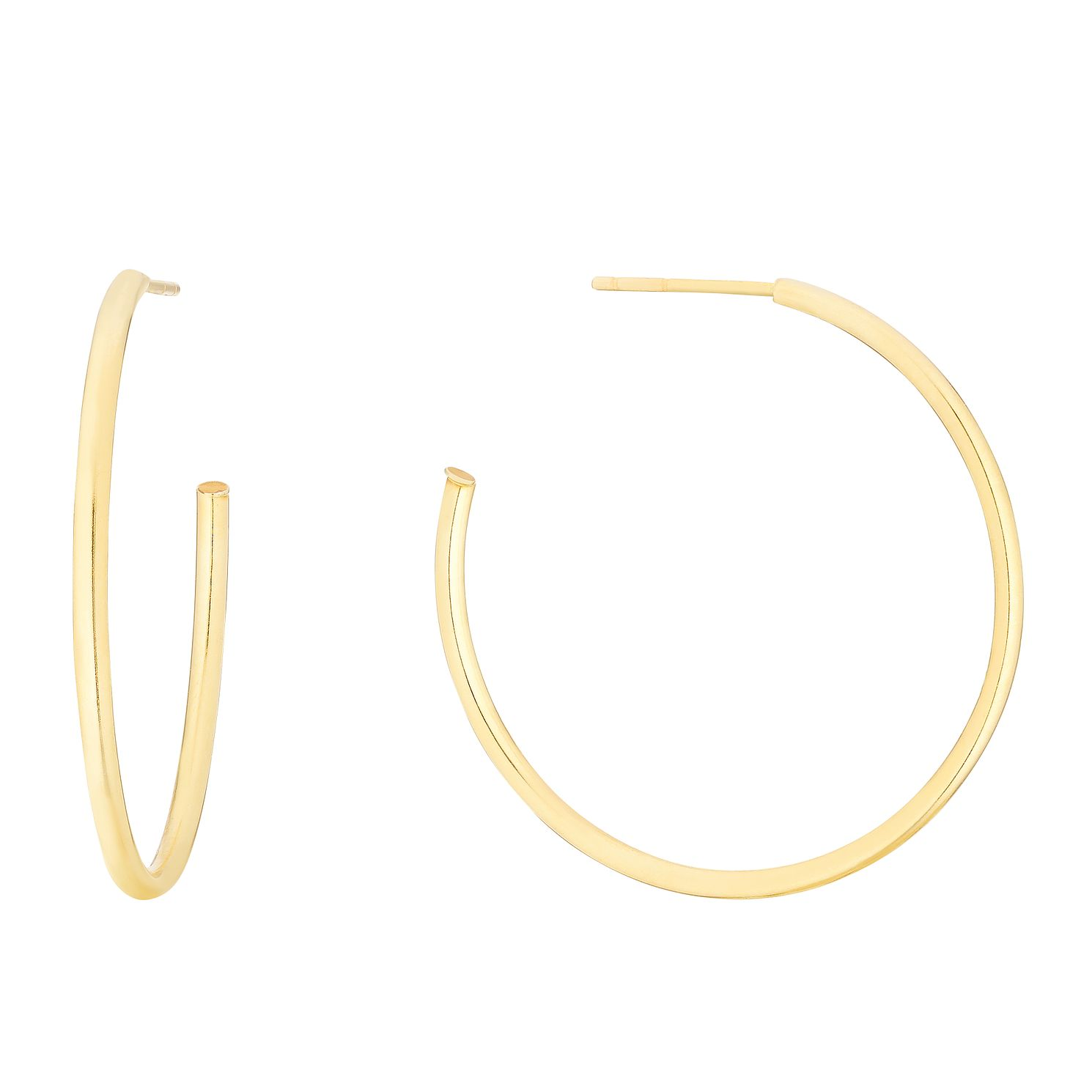 9ct Yellow Gold 27mm Skinny Hoop Earrings - Product number 3140237