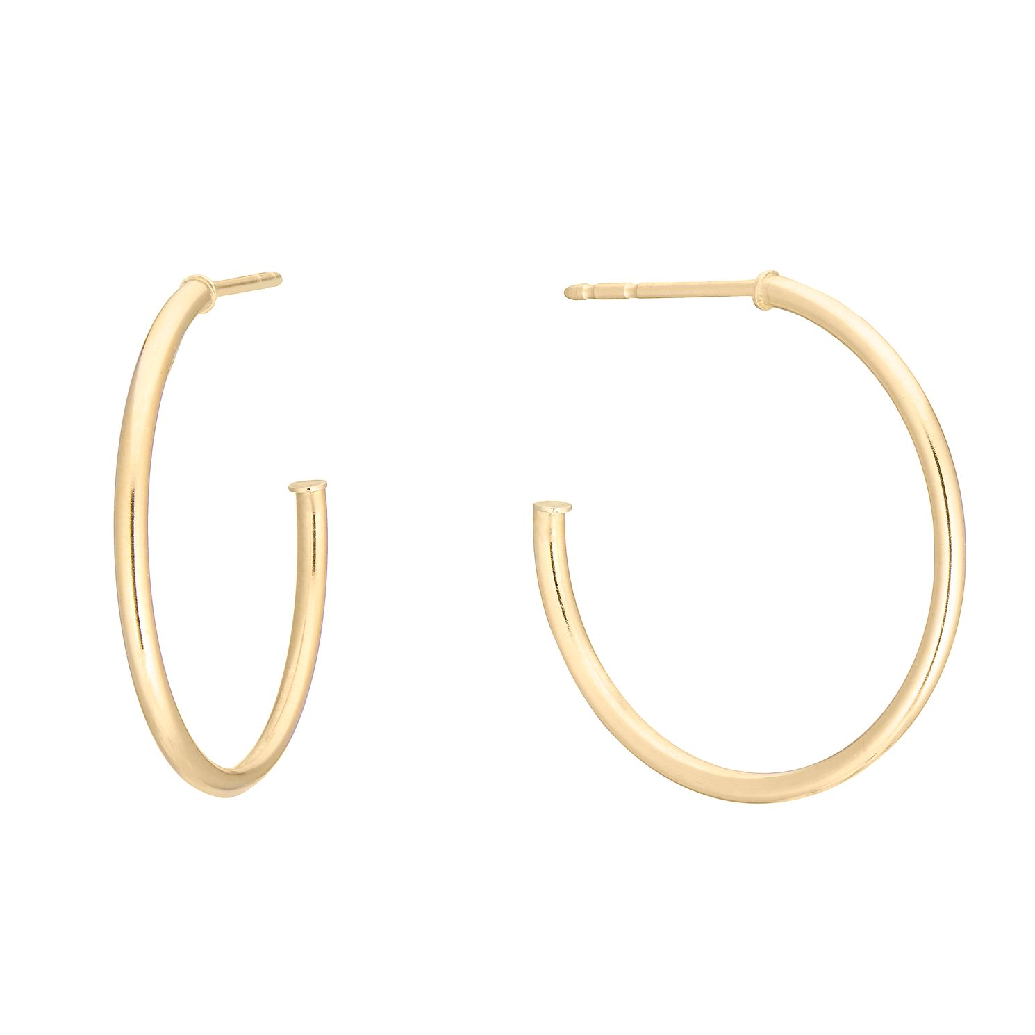 9ct Yellow Gold 17mm Skinny Hoop Earrings - Product number 3140598