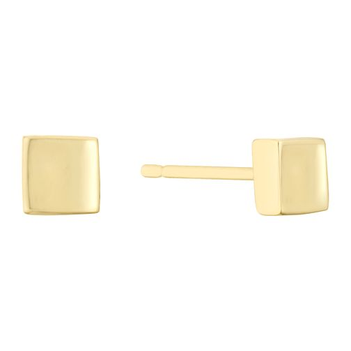 9ct Yellow Gold Square Polished Stud Earrings - Product number 3141217