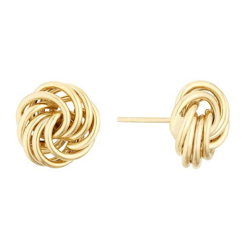 9ct Yellow Gold Four Strand Love Knot Stud Earrings - Product number 3141276