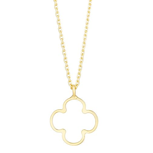 9ct Yellow Gold Open Clover Pendant - Product number 3142396