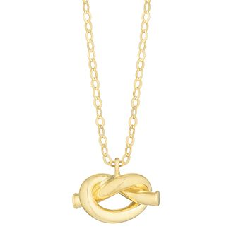 9ct Yellow Gold Twisted Knot Pendant - Product number 3142426