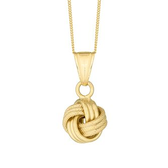 9ct Yellow Gold Love Knot Pendant - Product number 3142485