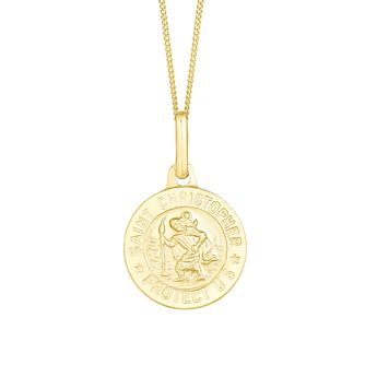 9ct Yellow Gold St Christopher Pendant - Product number 3142493
