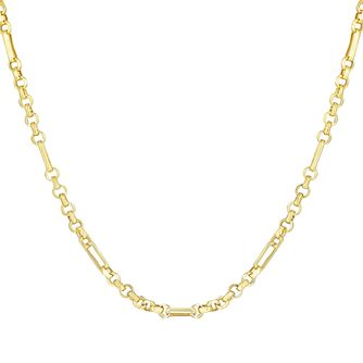 9ct Yellow Gold Belcher Chain Link Necklace - Product number 3143368