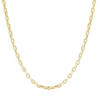 9ct Yellow Gold Fancy Marine Link Necklace - Product number 3143465