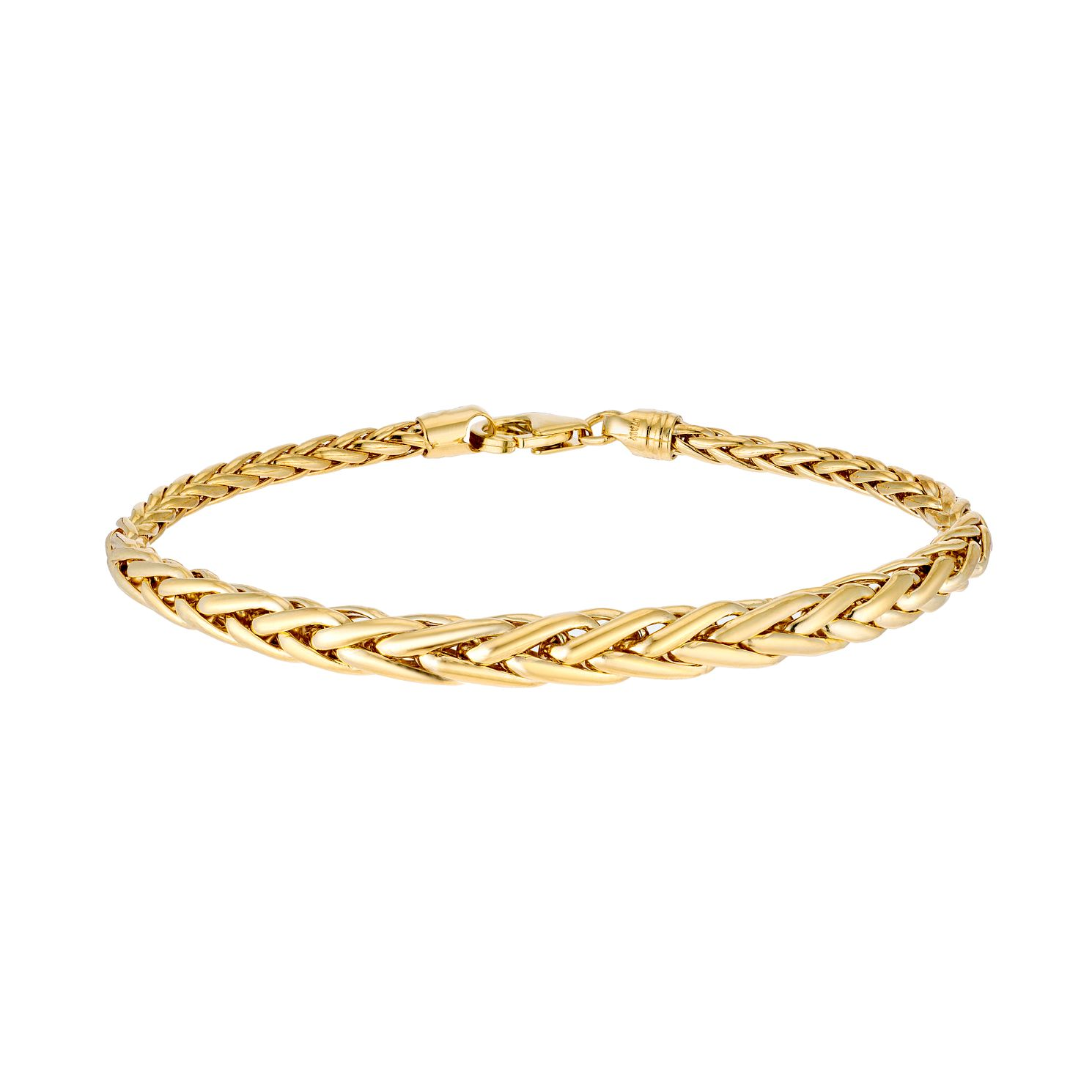 9ct Yellow Gold Graduated Spiga Bracelet - Product number 3143600