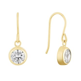 9ct Yellow Gold Cubic Zirconia Round Drop Earrings - Product number 3144070