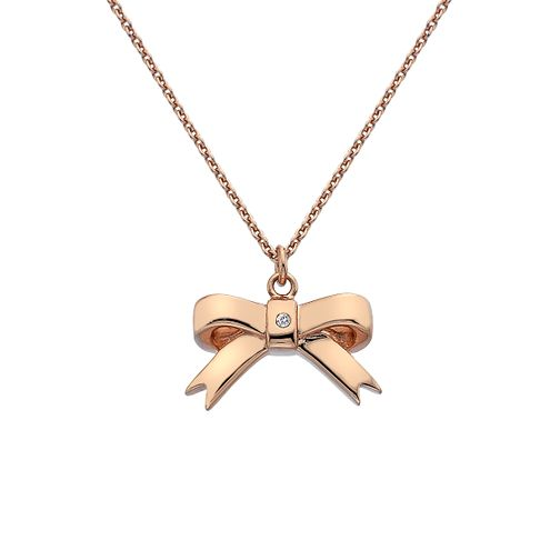 Hot Diamonds Rose Gold Plated Ribbon Pendant - Product number 3145093
