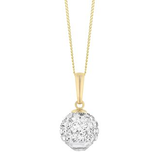 9ct Yellow Gold Crystal Glitterball Pendant - Product number 3145360