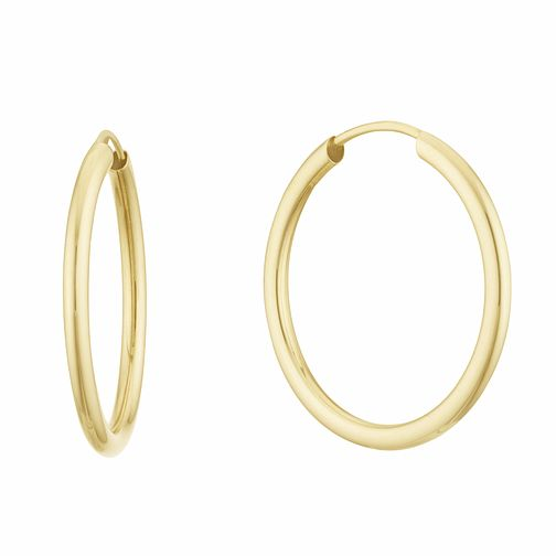 9ct Yellow Gold 20mm Sleeper Earrings - Product number 3152820