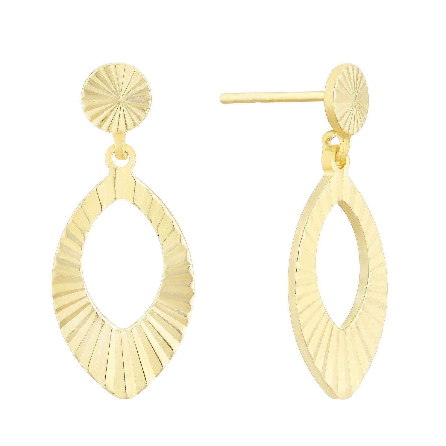 Together Silver & 9ct Bonded Gold Solar Core Oval Earrings - Product number 3152960