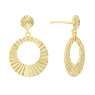 Together Silver & 9ct Bonded Gold Solar Core Circle Earrings - Product number 3152995