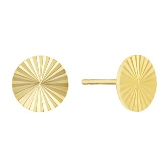 Together Silver & 9ct Bonded Gold Solar Core Stud Earrings - Product number 3153053