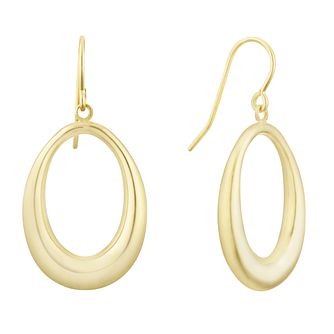 Together Silver & 9ct Bonded Gold Oval Drop Earrings - Product number 3153088