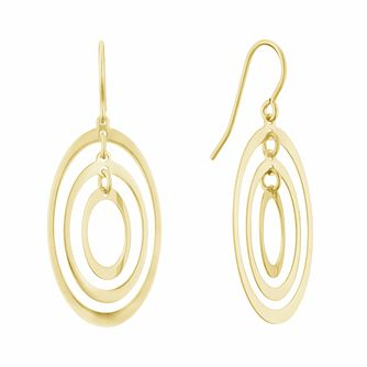 Together Silver & 9ct Bonded Gold Triple Oval Drop Earrings - Product number 3153215