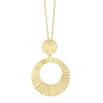 Together Silver & 9ct Bonded Gold Solar Core Circle Pendant - Product number 3153363
