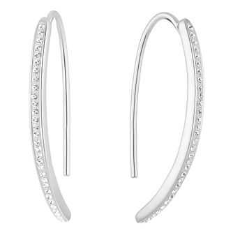 Evoke Silver & Rhodium Plated Crystal Drop Earrings - Product number 3153835