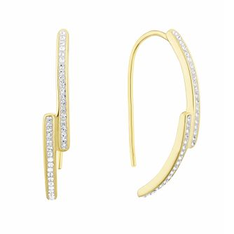 Evoke Silver & Gold Plated Crystal Drop Earrings - Product number 3153975