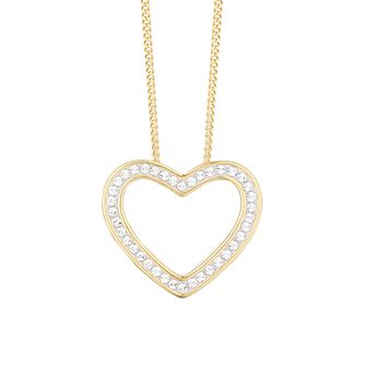 Evoke Silver & Gold Plated Crystal Heart Pendant - Product number 3154203