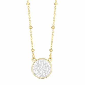Evoke Silver & Gold Plated Crystal Round Beaded Choker - Product number 3154475