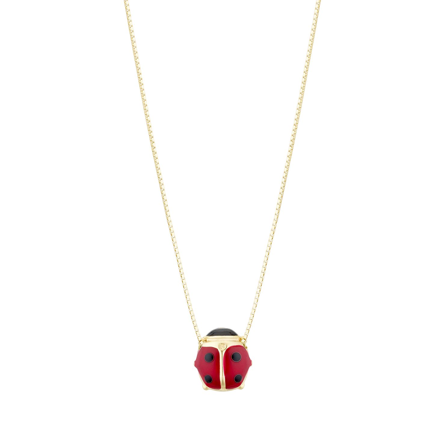 Kids' 9ct Yellow Gold Ladybird Pendant - Product number 3157016