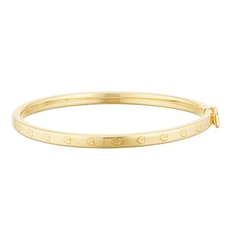 Kids' 9ct Yellow Gold Heart Design Baby Bangle - Product number 3157091