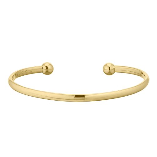 Kids' 9ct Yellow Gold Torque Baby Bangle - Product number 3157113