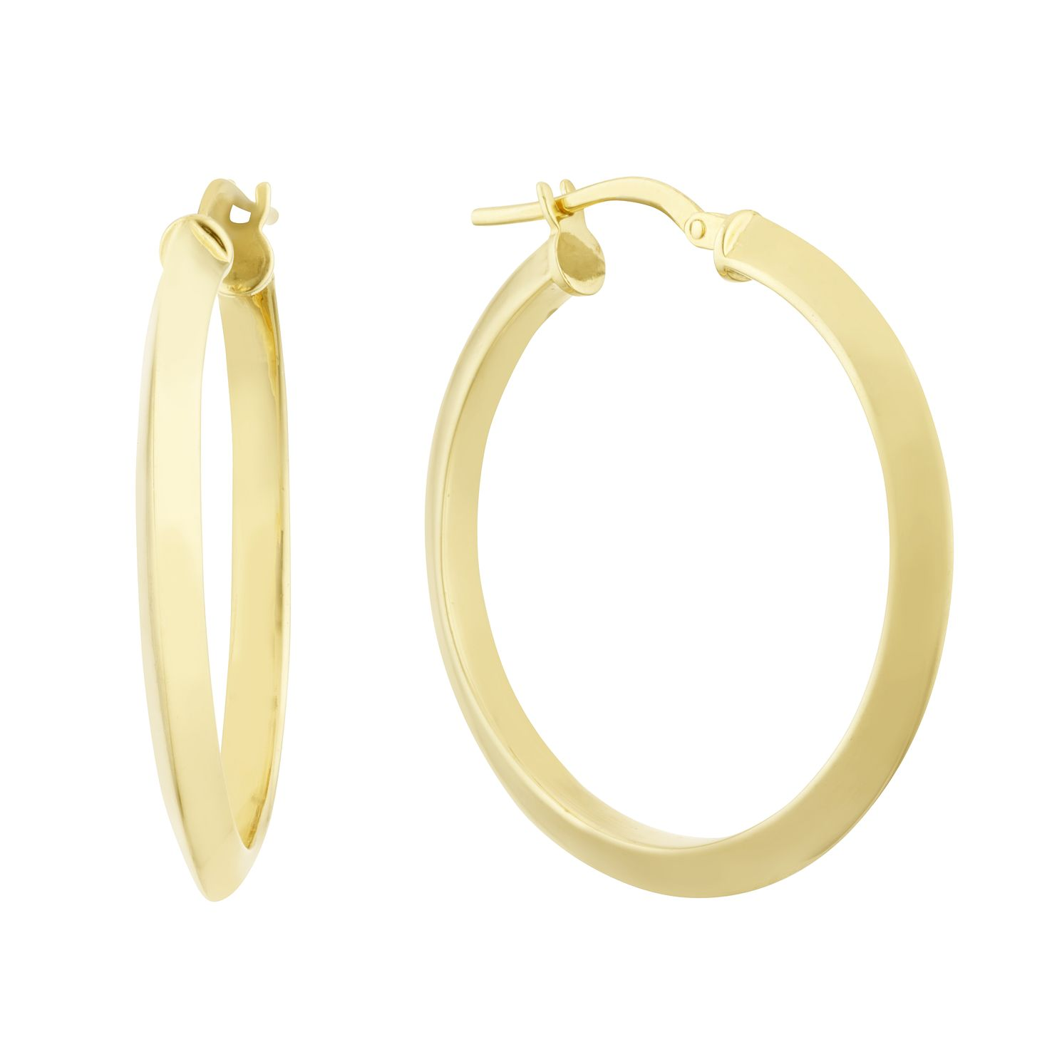 Together Silver & 9ct Bonded Yellow Gold 25mm Hoop Earrings - Product number 3157385