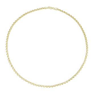 Together Silver & 9ct Bonded Yellow Gold Heart Link Necklace - Product number 3157466