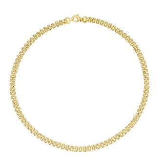 Together Silver & 9ct Bonded Yellow Gold Fancy Link Necklace - Product number 3157474