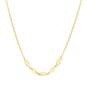 Together Silver & 9ct Bonded Yellow Gold Five Bead Necklace - Product number 3157482