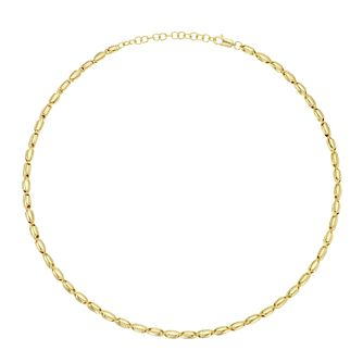 Together Silver & 9ct Bonded Yellow Gold Beaded Necklace - Product number 3157490