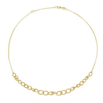 Together Silver & 9ct Bonded Yellow Gold Curb Chain Necklace - Product number 3157504