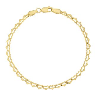 Together Silver & 9ct Bonded Yellow Gold Heart Link Bracelet - Product number 3157555