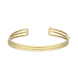 Together Silver & 9ct Bonded Yellow Gold Open Bangle - Product number 3157563